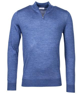 Giordano Blue heren zipper trui blauw