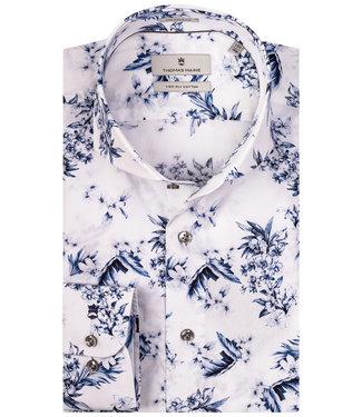 Thomas Maine wit met blauwe bloemenprint