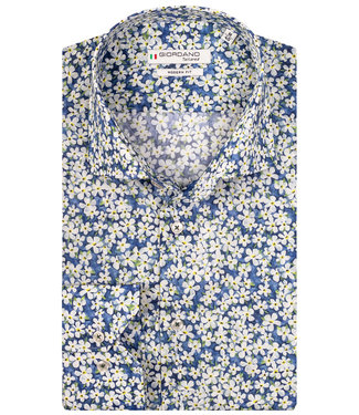 Giordano Tailored wit het blauw gele print