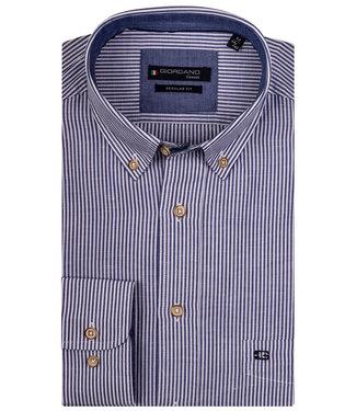 Giordano Regular Fit donkerblauw-wit fijne streepje