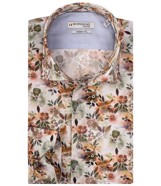 Giordano Tailored groen bloemenprint