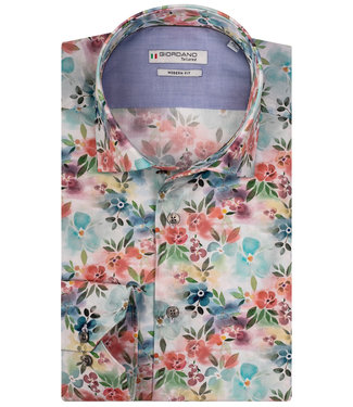 Giordano Tailored multicolour bloemenprint