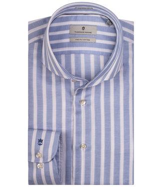 Thomas Maine lichtblauw-wit brede streep