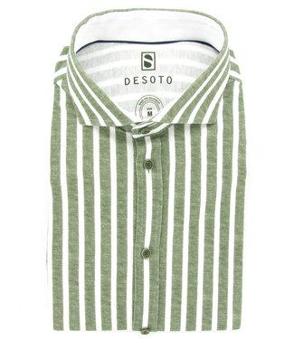 Desoto olijfgroen-wit brede streep cut away  jersey