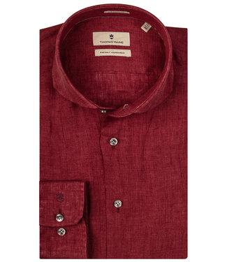 Thomas Maine bordeaux rood linnen