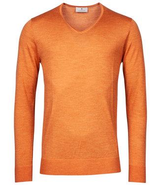 Thomas Maine heren oranje v-hals trui
