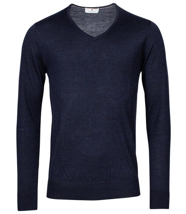 Thomas Maine heren donkerblauw v-hals trui