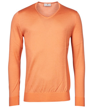 Thomas Maine heren bright orange v-hals trui
