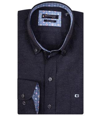 Giordano Regular Fit donkerblauw met donkerblauwe knopen