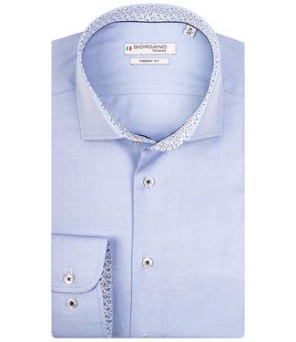 Giordano Tailored overhemd lichtblauw 1knoops wide spread