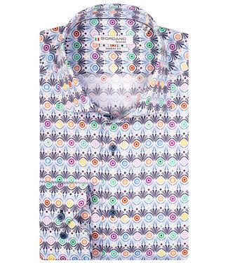 Giordano Tailored wit tutti colori multicolour rondjes print