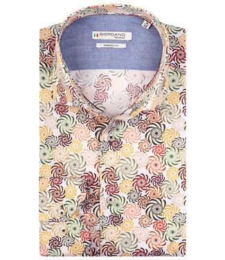 Giordano Tailored overhemd tutti colori multicolour bloemen print