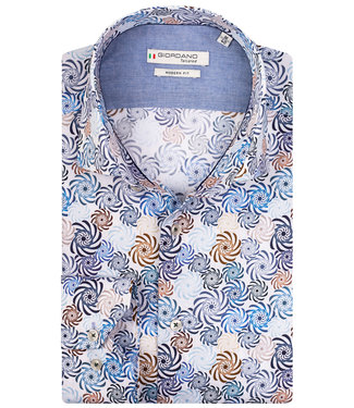 Giordano Tailored tutti colori multicolour bruin-blauw bloemen print