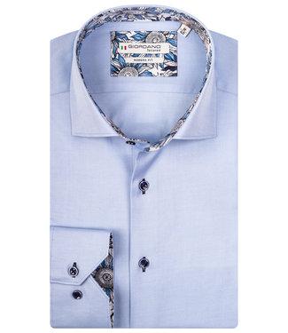 Giordano Tailored lichtblauw met donkerblauwe knopen