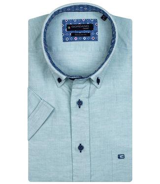 Giordano Regular Fit aqua blauw met donkerblauwe knopen