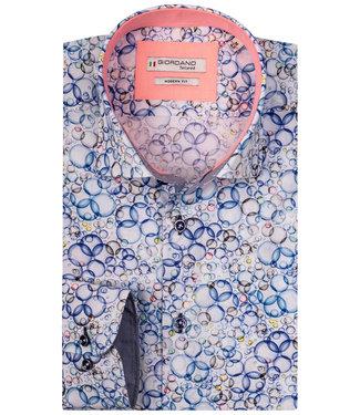Giordano Tailored wit met blauw rondjes print