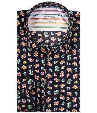 Giordano Tailored zwart met tutti colori multicolour bloemenprint