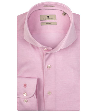 Thomas Maine roze jersey 1 knoops cut away