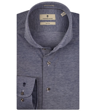 Thomas Maine donkerblauw-wit jersey 1 knoops cut away