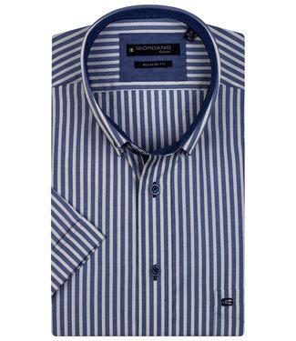 Giordano Regular Fit blauw-geel streep