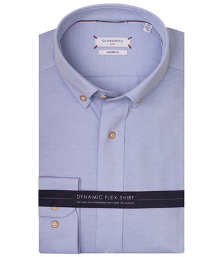 Giordano Tailored lichtblauw jersey dynamic flex