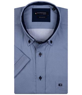 Giordano Regular Fit blauw-wit printje