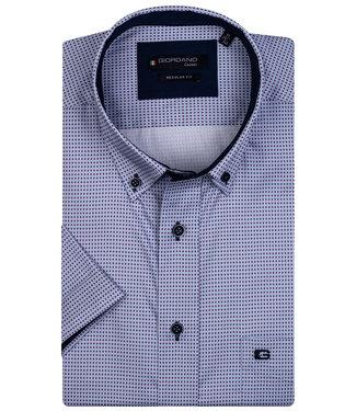 Giordano Regular Fit wit-paars-lichtblauw printje