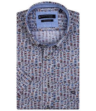 Giordano Regular Fit wit met blauw-rood vissen print