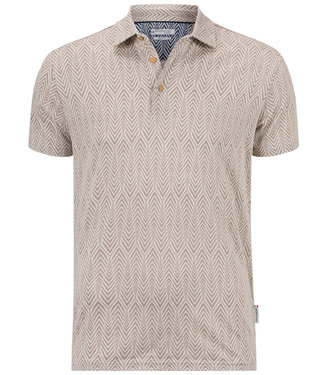 Giordano Tailored beige off white print