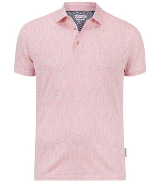 Giordano Tailored roze off white print