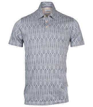 Giordano Tailored donkerblauw off white print