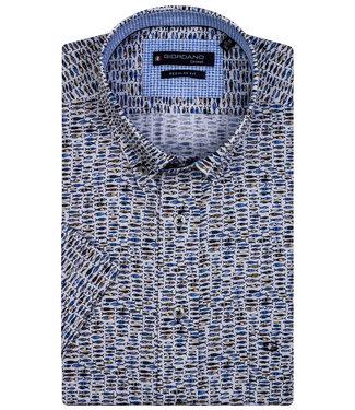 Giordano Regular Fit wit met blauw-geel vissen print