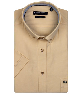 Giordano Regular Fit geel oxford