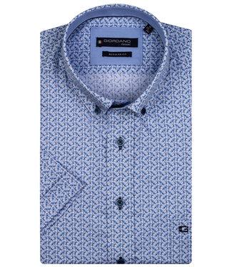Giordano Regular Fit wit lichtblauw donkerblauw bloemenprint