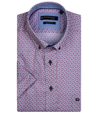 Giordano Regular Fit wit roze donkerblauw bloemenprint