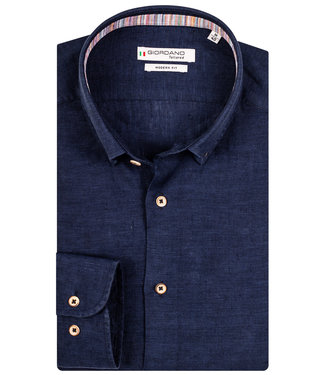 Giordano Tailored donkerblauw linnen