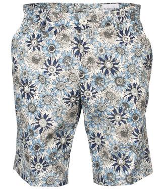 Giordano Blue korte broek blauw donkerblauw zonnebloem print