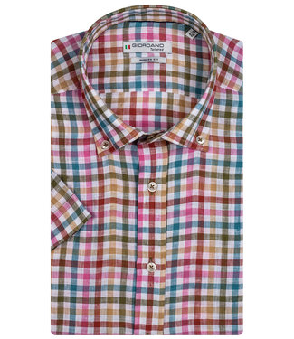 Giordano Tailored tutti colori ruitje wit-roze-rood-blauw