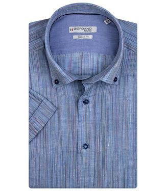 Giordano Tailored blauw met speciale strepen en donkerblauwe knopen