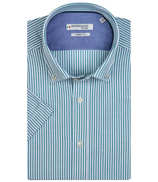 Giordano Tailored groen-wit streepje