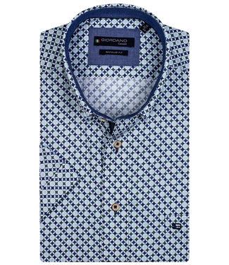 Giordano Regular Fit wit met-groen-donkerblauw-aqua blauw print