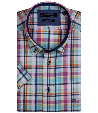 Giordano Regular Fit multicolour seersucker ruit