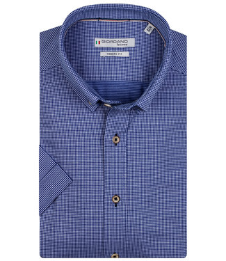 Giordano Tailored blauw-wit werkje jersey dynamic flex