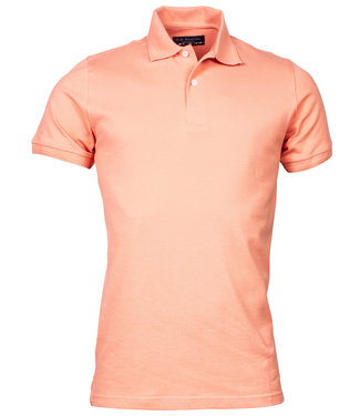 R.B. Boston heren polo zalm oranje