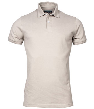 R.B. Boston heren polo beige
