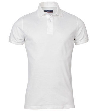 R.B. Boston heren polo wit