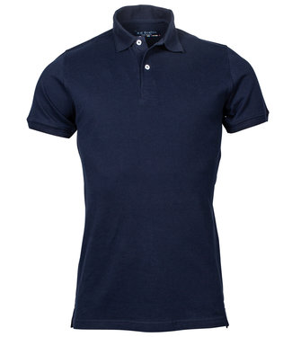 R.B. Boston heren polo donkerblauw