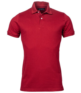 R.B. Boston heren polo bordeaux rood