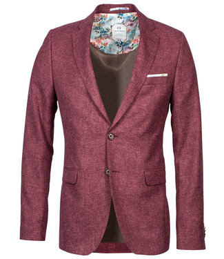 Giordano Tailored Giordano heren blazer jasje bordeaux rood