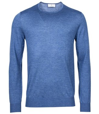 Thomas Maine heren kobaltblauw ronde hals trui